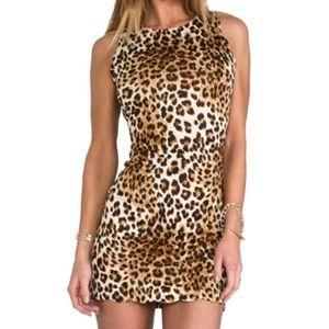 For Love and Lemons leopard mini dress - XS